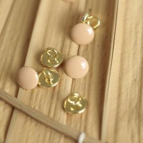 bouton rond métal nude pomelos