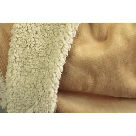 tissu suedine envers mouton beige