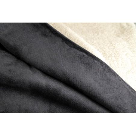 tissu suédine envers mouton noir