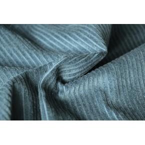 tissu velours côtelé bleu canard