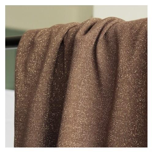 tissu sweat brun lurex doré