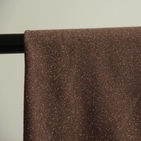 molleton brun lurex doré