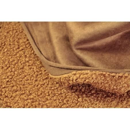 tissu bouclette cognac fibremood