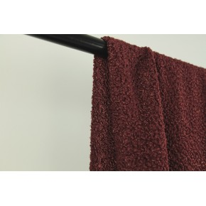 tissu bouclette marron