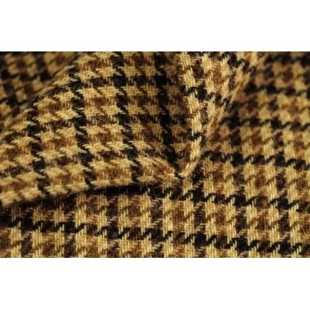 lainage pure laine à carreaux beige