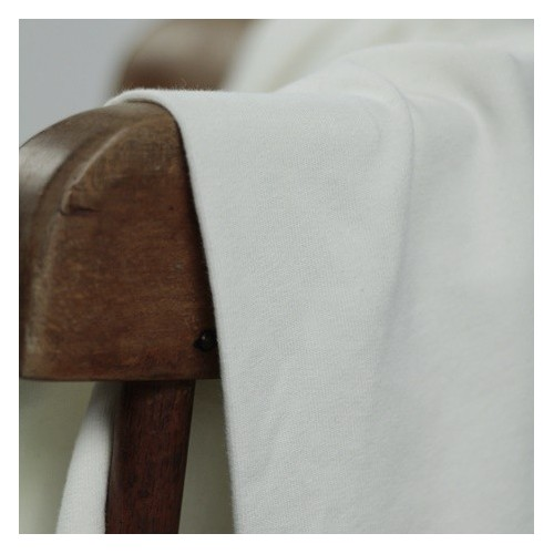 tissu molleton fin bio blanc cassé