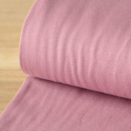 jersey coton bio vieux rose