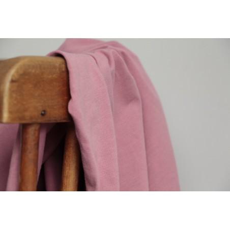 tissu jersey coton bio rose