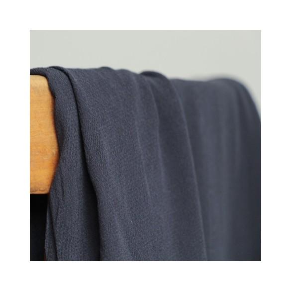 tissu crêpe de viscose marine