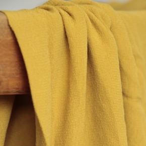 crêpe de viscose moutarde