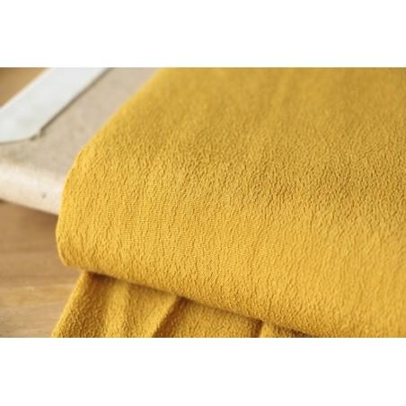 tissu crêpe moutarde