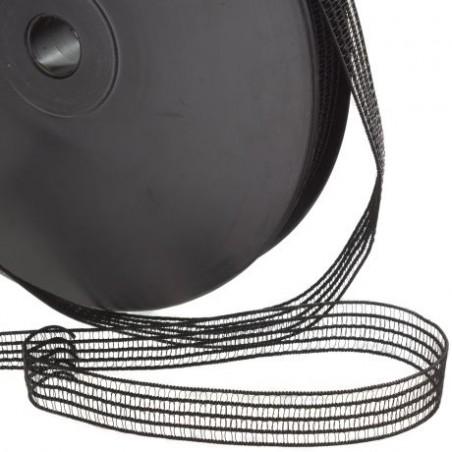 elastique fronceur noir 13 mm