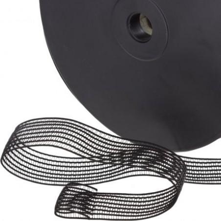 elastique fronceur noir 25 mm