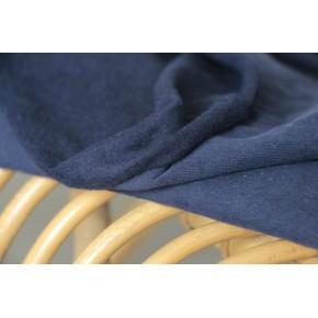 tissu sweat en coton bio marine