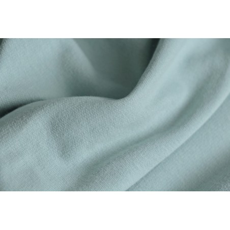 tissu sweat bio bleu glacier
