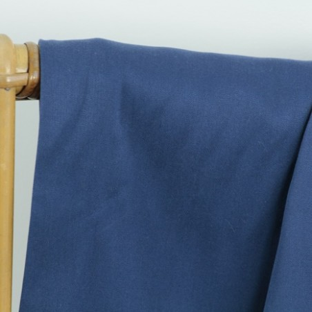 tissu tencel lourd bleu