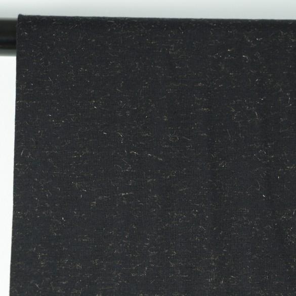 tissu jersey coton lurex noir