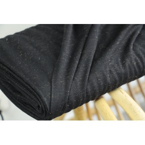 jersey coton noir lurex