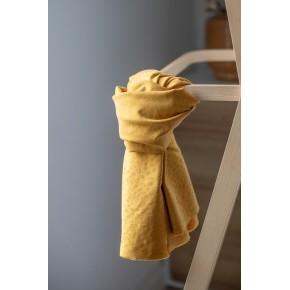 tissu tencel jacquard moutarde - meetmilk