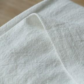 tissu lin lavé blanc
