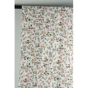 viscose imprimé fleurs blanc et rose
