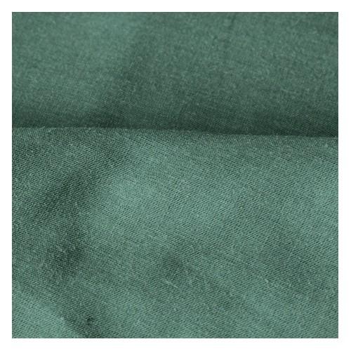 tissu voile de coton vert foncé