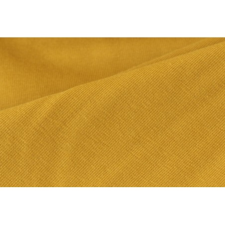 tissu jersey coton bio moutarde