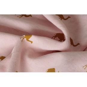 lin et viscose rose dromadaire moutarde