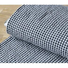 seersucker coton noir et blanc