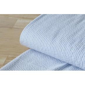 coton seersucker rayures blanc et bleu