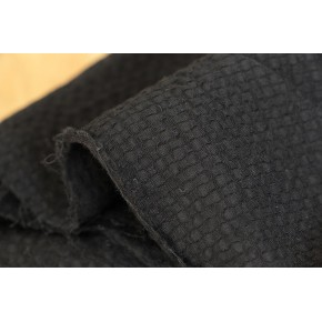 coton gaufré noir