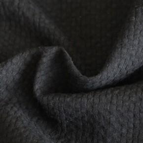 tissu coton gaufré noir