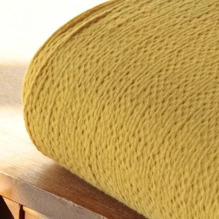 coton gaufré moutarde