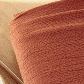 tissu coton gaufré brique