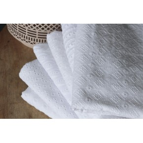 broderie anglaise coton blanc
