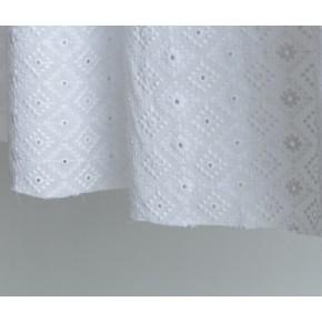 coton brodé graphique armance blanc