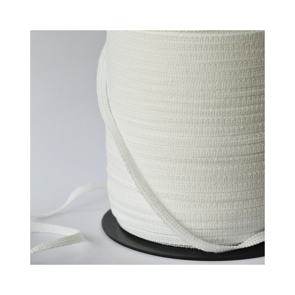 rouleau 330 m élastique 6 mm blanc