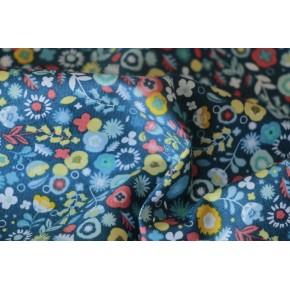 coton imprimé flowers blue