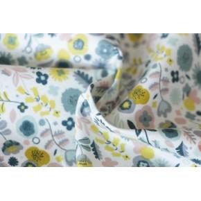coton fleurs blanc