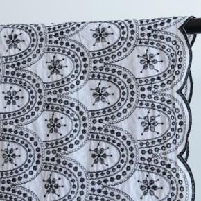 coton brodé lisbonne noir