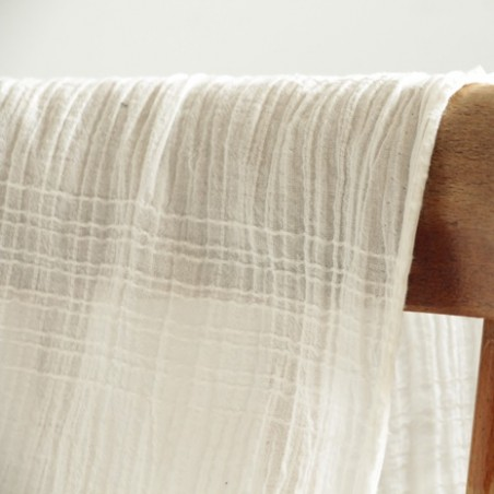 voile de coton irregular - blanc
