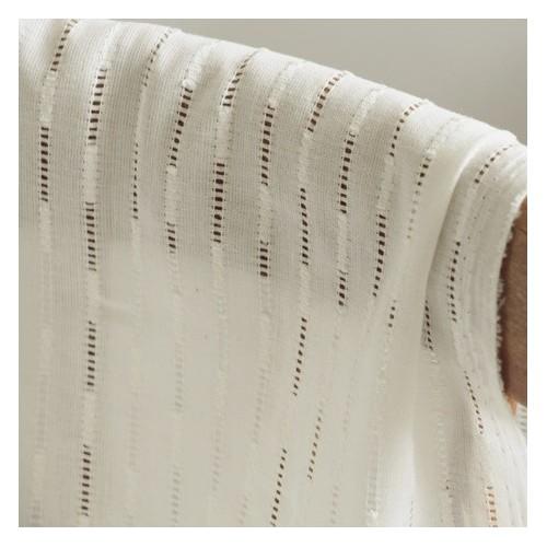 coton brodé ajouré blanc
