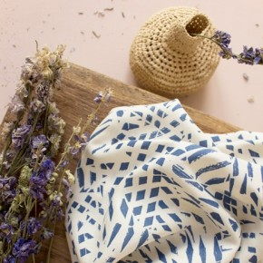tissu viscose shade cobalt - atelier brunette