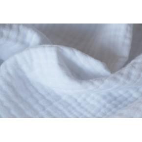 coton triple gaze blanc