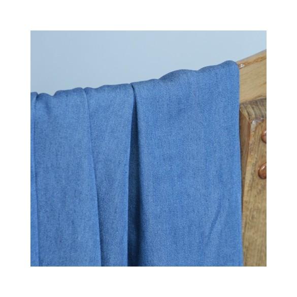 chambray tencel bleu moyen