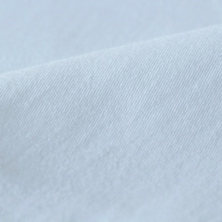 gabardine coton blanc