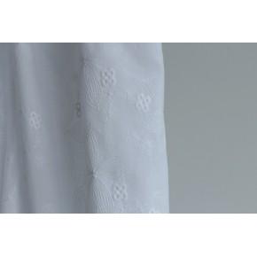 tissu coton broderie clémence blanche
