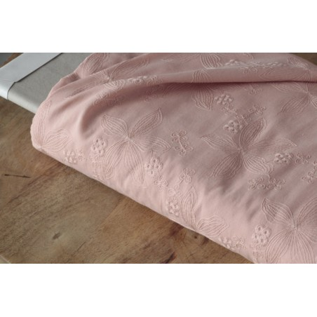 broderie anglaise vieux rose