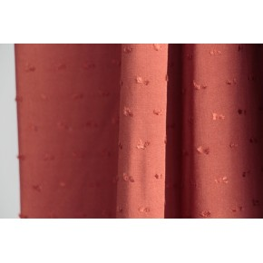 plumetis terracotta en viscose
