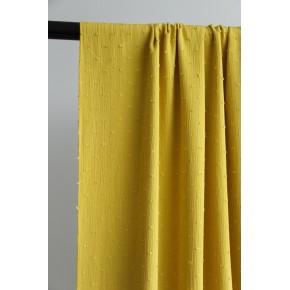 crepon plumetis jaune